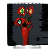 Abstract Floral Art 91 Shower Curtain