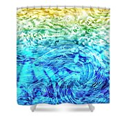 Abstract Floral Dl312016 Shower Curtain