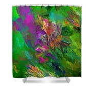 Abstract Floral Fantasy 071912 Shower Curtain