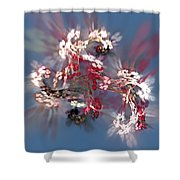 Abstract Floral Fantasy  Shower Curtain