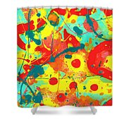 Abstract Floral Fantasy Panel A Shower Curtain