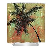 Abstract Floral Fauna Palm Tree Leaf Tropical Palm Splash Abstract Art By Megan Duncanson  Shower Curtain