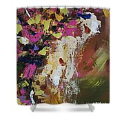 Abstract Floral Study Shower Curtain