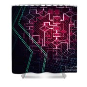 Abstract Flowchart Background Shower Curtain