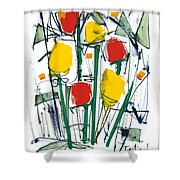 Abstract Flower Sixteen Shower Curtain