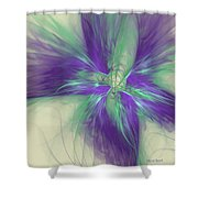 Abstract Flower Sway Shower Curtain
