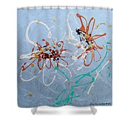 Abstract Flowers 2 Shower Curtain