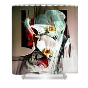 Abstract Flowers Of Love #1 Shower Curtain