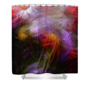 Abstract Flowers One Shower Curtain