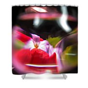 Abstract Flowers Part Two Shower Curtain