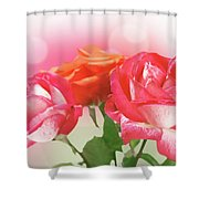 Abstract Flowers Spring Background Shower Curtain