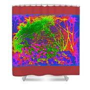 Abstract Forest 2 Shower Curtain