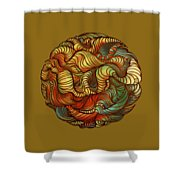Abstract Forest Ball Shower Curtain