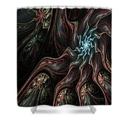 Abstract Fractal 050810 Shower Curtain