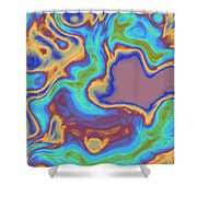 Abstract Fractal Background Shower Curtain