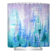 Abstract Frost 2 Shower Curtain