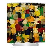 Abstract Fun Shower Curtain by Sonya Wilson
