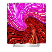 Abstract Fusion 266 Shower Curtain