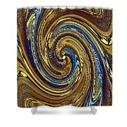 Abstract Fusion 272 Shower Curtain