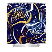 Abstract Fusion 279 Shower Curtain