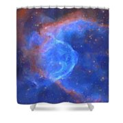 Abstract Galactic Nebula With Cosmic Cloud 10 Xl Shower Curtain by Celestial Images