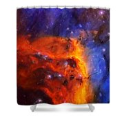 Abstract Galactic Nebula With Cosmic Cloud 5 Shower Curtain by Celestial Images
