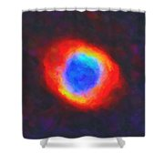 Abstract Galactic Nebula With Cosmic Cloud 9 Shower Curtain by Celestial Images