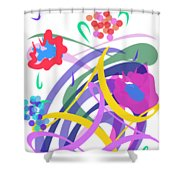 Abstract Garden #2 Shower Curtain by Bee-Bee Deigner