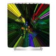 Abstract Garden Shower Curtain