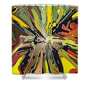 Abstract Garden Defined Shower Curtain