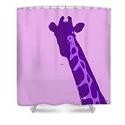 Abstract Giraffe Contours Purple Shower Curtain