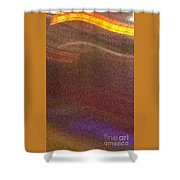 Abstract Gold Brown And Blue Shower Curtain