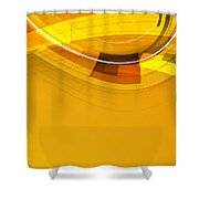 Abstract Golden Arcs And Lines Shower Curtain