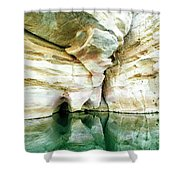 Abstract Gorge Shower Curtain