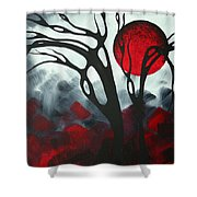 Abstract Gothic Art Original Landscape Painting Imagine I By Madart Shower Curtain