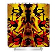 Abstract Graffiti 19 Shower Curtain
