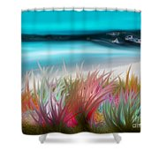 Abstract Grass Series 17 Shower Curtain