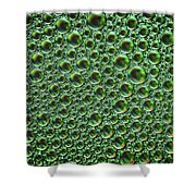 Abstract Green Alien Bubble Skin Shower Curtain