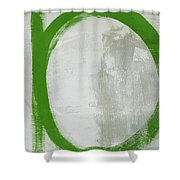 Abstract Green Circle 2- Art By Linda Woods Shower Curtain