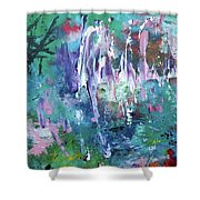 Abstract Greens Shower Curtain