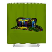 Abstract Hat For All Shower Curtain
