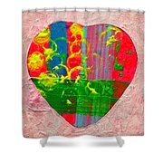 Abstract Heart 310118 Shower Curtain