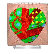 Abstract Heart 40218 Shower Curtain