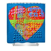 Abstract Heart 50218 Shower Curtain