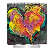 Abstract Heart Series Shower Curtain