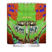 Abstract Holistic Vallely Graphic Painting Inspiration From Sargada Temple  Lights N Shades Sagrada  Shower Curtain