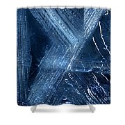 Abstract Ice. Darkness Shower Curtain