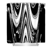 Abstract IIi Death Mask Shower Curtain