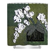 Abstract Impressionism Orchids II Shower Curtain