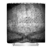Abstract In Black And White Shower Curtain